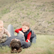 Two young boys playing with their mother — Stock Photo #46978797