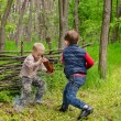 Two Young Boys Playing — Stock Photo #47579563