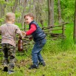 Two Young Boys Playing — Stock Photo #47579575