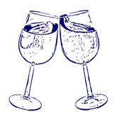 Copos de champanhe — Vetor de Stock
