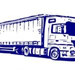 Semi-trailer truck — Stock Vector