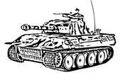 Armored tank — Vetor de Stock