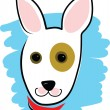 Vector de stock : Dog Head