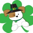 Stock Vector: Irish Puppy
