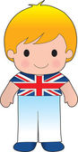 Poppy British Boy — Stock Vector