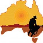 cowboy australiano — Vetorial Stock