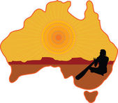 Australia Aboriginal — Stock Vector