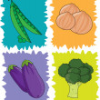 Stock Vector: Veggies