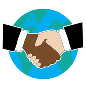 World Hand Shake — Stock Vector