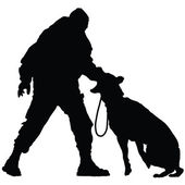 Police Dog 2 — Stock Vector