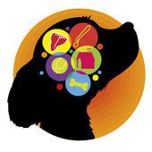 Dog Brain — Stock Vector