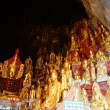 Buddhas inside Pindaya cave in Myanmar — Stock Photo #22194841