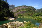 Kaňon v wuyishan mountain, provincie fujian, čína — Stock fotografie