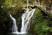 Cascata vicino montagna wuyishan, provincia del fujian, cina — Foto Stock