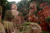 Giant Buddha in Leshan, Sichuan, China — Foto Stock