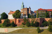 Wawel Castle on the Vistula river in Cracow (Krakow), Poland — Stockfoto