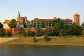 Wawel Castle on the Vistula river in Cracow (Krakow), Poland — Stock Photo