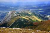 Red Mountain Peaks, Tatras Mountains in Poland — Stock Photo