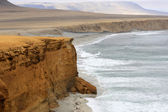 Cliff coast of Atacama desert near Paracas in Peru — Photo