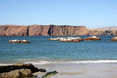 Cliff coast of Atacama desert near Paracas in Peru — Stock Photo