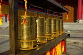 Three buddhist pagodas in Dali old city, Yunnan province, China — Stock Photo