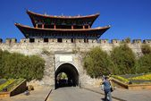 Gate and wall of Dali old city, Yunnan province, China — Stok fotoğraf