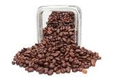 一罐咖啡豆 — 图库照片