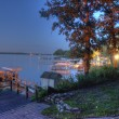 Stock Photo: Lake Okoboji at Night