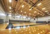 Gymnasium at Middle School — Stock Photo