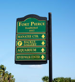 Fort Pierce Sign — Stock Photo