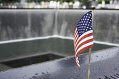 Flag at WTC Memorial — Stock Photo