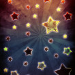 Stock Photo: Colorful grunge stars background