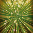 Grunge stars and green lines — Stock Photo