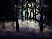 Halloween forest — Stock Photo