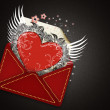 Valentine`s day envelope — Stock Photo