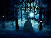 Halloween witch — Stock Photo