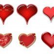 Royalty-Free Stock Photo: Hearts isolated
