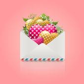 Pošta otevřené srdce — Stock fotografie