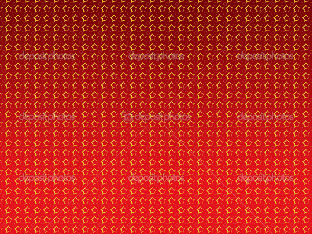Abstract illustration of golden stars over red background. — Stock Photo #13124753