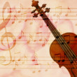 Soft grunge music background with violin — Foto de Stock