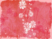 Grunge floral ornament — Foto Stock