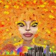 Abstract autumn girl — Stock Photo #13610904