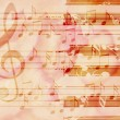 Soft grunge music background with piano — Stockfoto