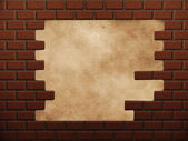Hole in red brick wall — Stock Photo