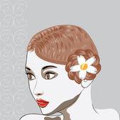 Schöne brünette porträt — Stockvektor