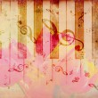 Foto de Stock  : Vintage background with tulip and notes
