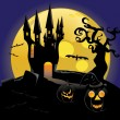 Haunted halloween Castle — Stock Vector #14036384