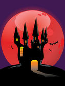 Halloween Castle — Stock Vector