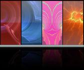 абстрактный красочные медиа-комната — Стоковое фото