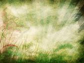 Grunge background with rays — Stock Photo